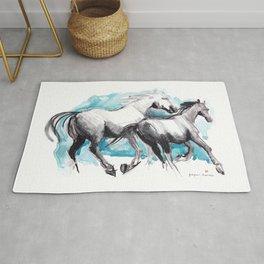 Horses (Mom&kid) Rug