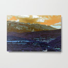 Mountains from the other planet Metal Print