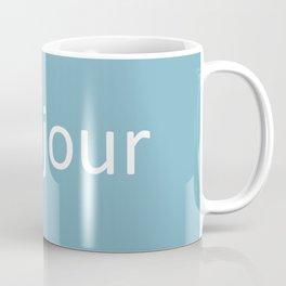 words: bonjour Coffee Mug