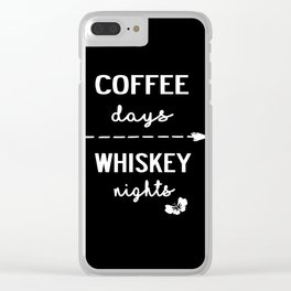coffee whiskey Clear iPhone Case