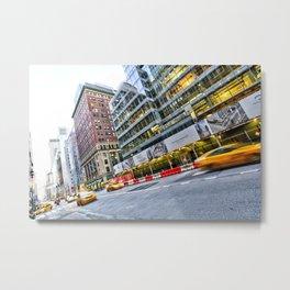 New York Street Scene Metal Print