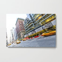 New York Street Scene Metal Print