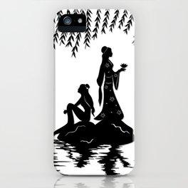 Lady White Snake iPhone Case