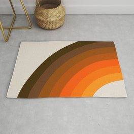 Retro Golden Rainbow - Left Side Rug