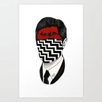twin peaks Art Prints featuring Twin Peaks by Black Neon
