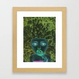 Mouth cavity observer Framed Art Print
