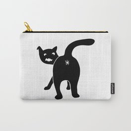 Funny Chonk Cat Black 013 Carry-All Pouch