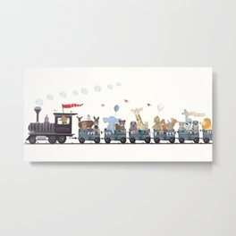 little big nature train Metal Print