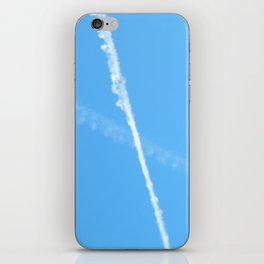 Contrails in the Blue iPhone Skin