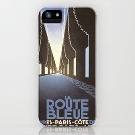 Vintage poster - La Route Bleue iPhone Case