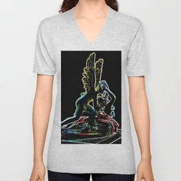 Psyche Revived by Cupid's Kiss by Jéanpaul Ferro Unisex V-Neck
