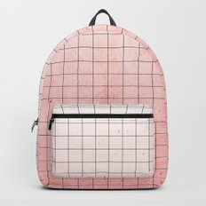 Sweet Pink Geometry Backpack