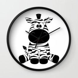 Cute Baby Zebra Wall Clock