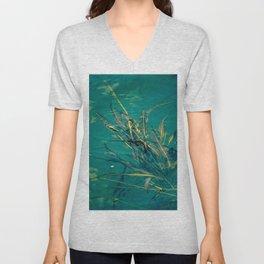 Blue Pond Branches Unisex V-Neck