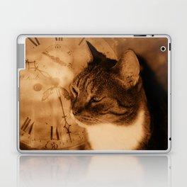 Cat and clock Laptop & iPad Skin