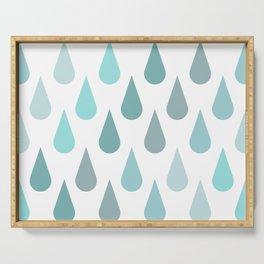 Rain Raindrops Serving Tray