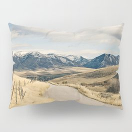 The Road to Snowy Mountains Pillow Sham