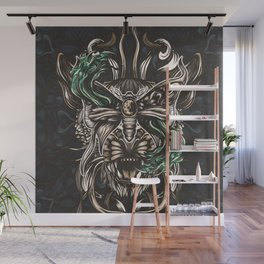 Moth and tiger Wall Mural