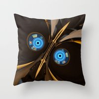 skyrim Throw Pillows featuring centurion by Patrick.the.human