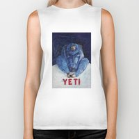 yeti Biker Tanks featuring Yeti by ----