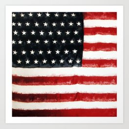 USA Flag ~ American Flag ~ Ginkelmier Inspired Art Print