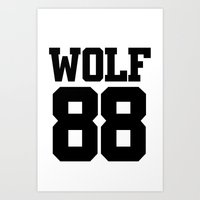 exo Art Prints featuring EXO WOLF 88 by Cathy Tan