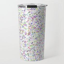 Cyberflowers pixel dots on white background Travel Mug