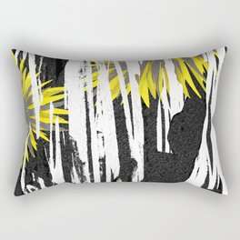 Abstract Palm Tree Leaves Design Rectangular Pillow