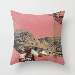 The future a time to reminisce. (mixed media) part 2 Throw Pillow
