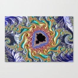 Colorful Slopes Mandelbrot Fractal Canvas Print