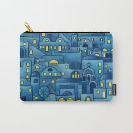 Santorini at night, Greece Carry-All Pouch