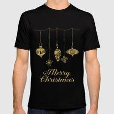 Christmas Glamour MEDIUM Black Mens Fitted Tee