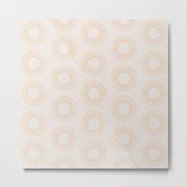 Minimalist Sunray Pattern XIV Metal Print