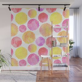 Yellow Red Purple Fireworks Wall Mural