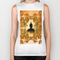 buddhism Biker Tanks featuring Buddha  by nicky2342