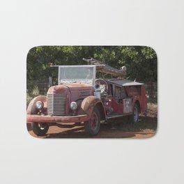 Antique Fire Truck Bath Mat