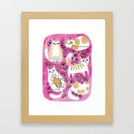 Fat Cats Framed Art Print