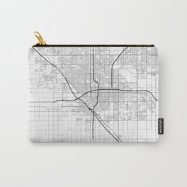 Minimal City Maps - Map Of Fresno, California, United States Carry-All Pouch