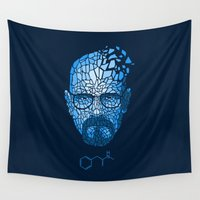 heisenberg Wall Tapestries featuring Crystal Heisenberg by Marco Mottura - Mdk7