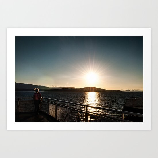Watching the Sun Burst Art Print