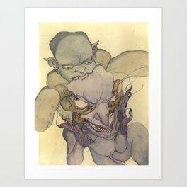 Demons Eating Demons Art Print
