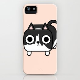 Cat Loaf - Tuxedo Kitty - Black and White iPhone Case