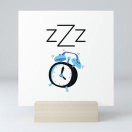 Clock Sleeping ZZZ Mini Art Print