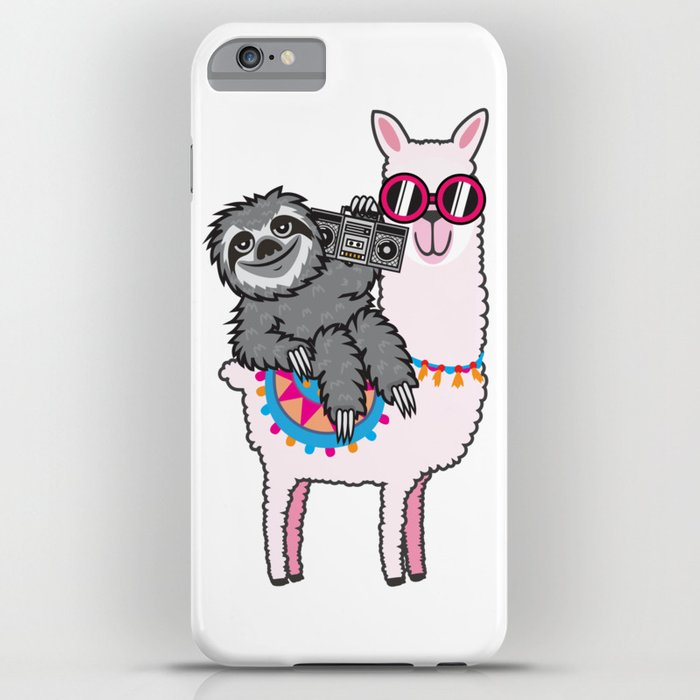 sloth music llama iphone case