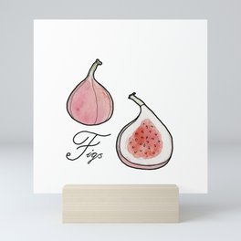 ABC fruit & vegetables Mini Art Print