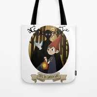 over the garden wall Tote Bags featuring Over The Garden Wall by Lockholmes