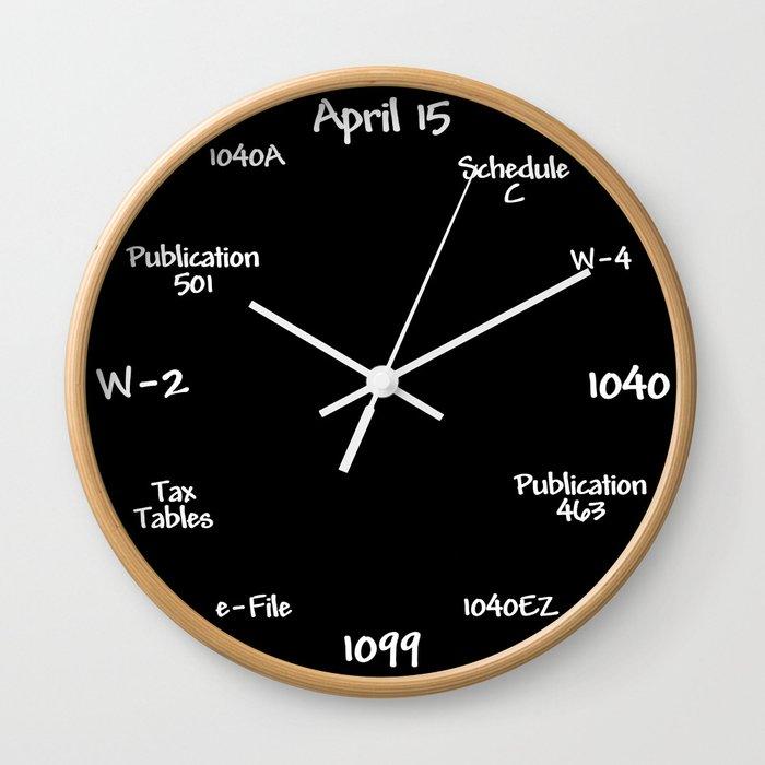 Tax Accountant Clock Wall Clock