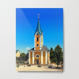 The village church of Alberndorf in der Riedmark Metal Print