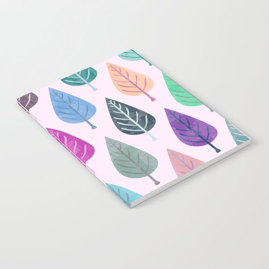 Watercolor Forest Pattern V Notebook