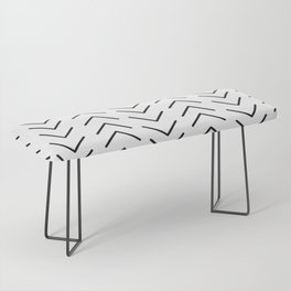 Mudcloth Black and White Bench